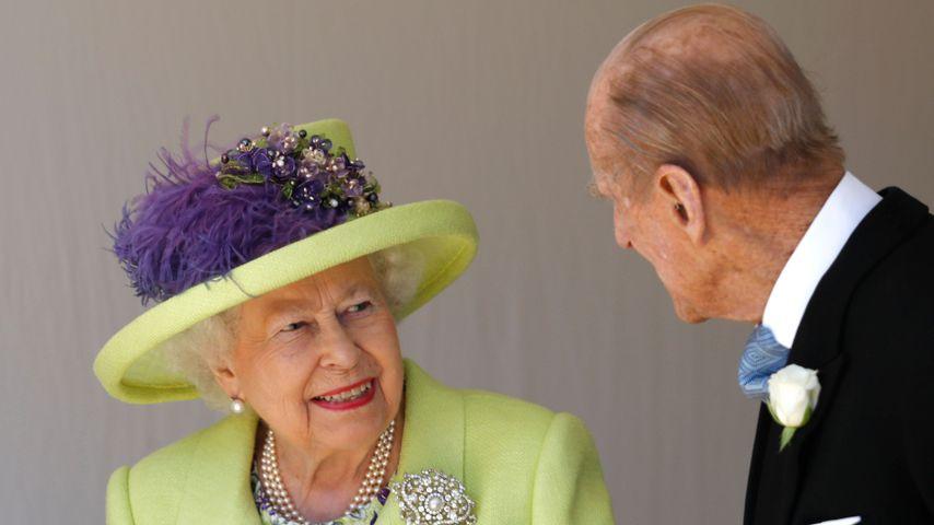 Queen Elizabeth II. und Prinz Philip auf Prinz Harrys und Meghans Hochzeit