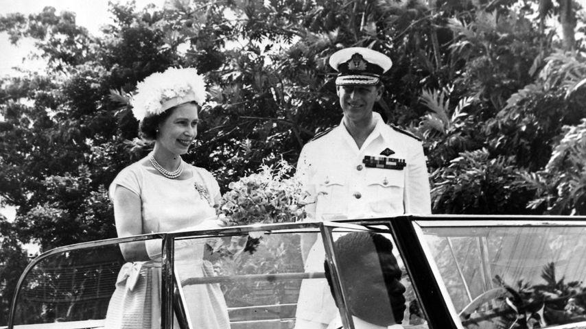 Queen Elizabeth II. und Prinz Philip auf Fidschi im Februar 1963