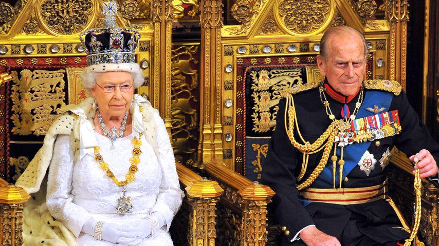 Queen Elizabeth II. und Prinz Philip bei der Eröffnung des Parlaments im Juni 2014