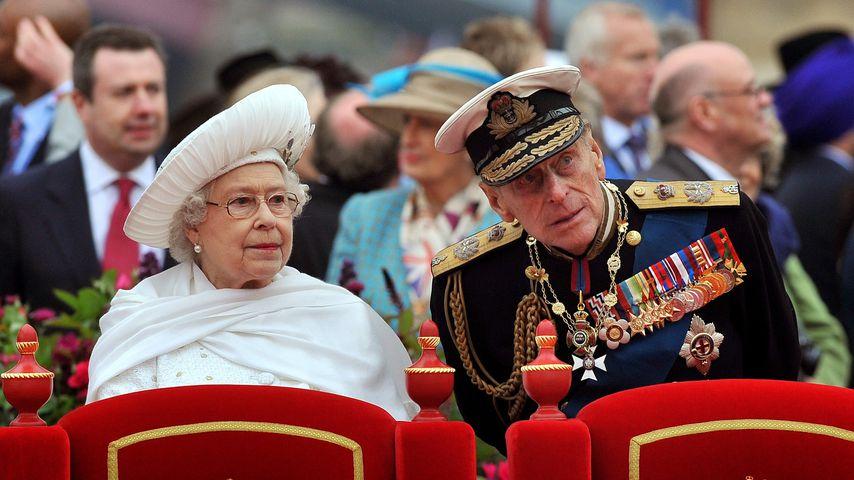 Queen Elizabeth II. und Prinz Philip im Juni 2012