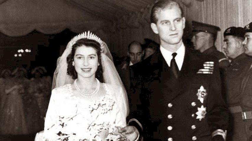 Prinzessin Elizabeth und Prinz Philip bei ihrer Hochzeit 1947
