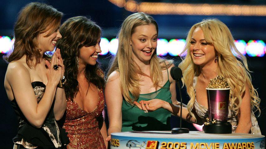 Rachel McAdams, Lacey Chabert, Amanda Seyfried und Lindsay Lohan bei den MTV Movie Awards 2005
