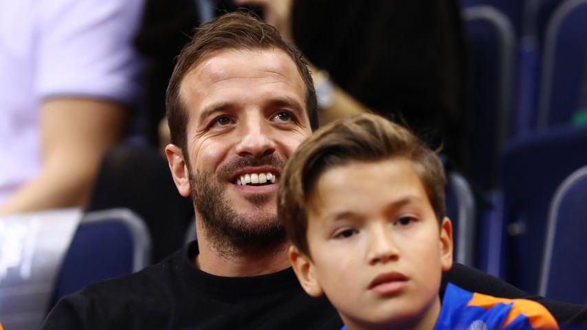 Rafael van der Vaart und sein Sohn Damian