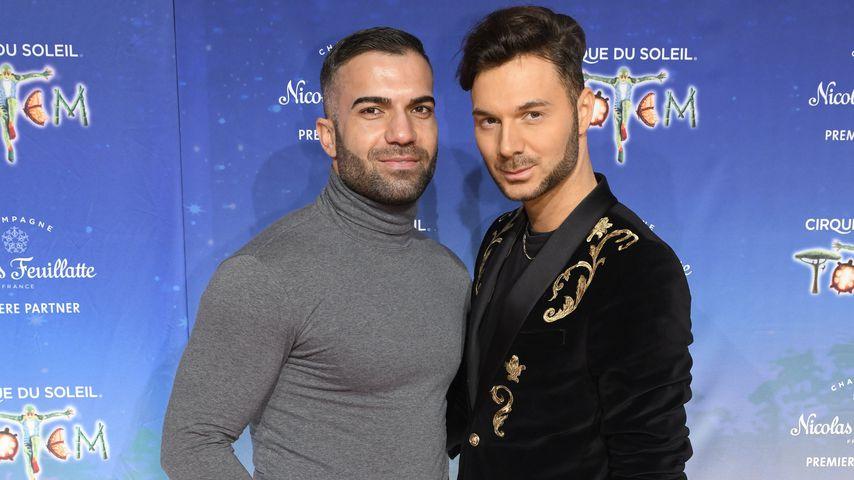 """Rafi Rachek und Sam Dylan bei der Premiere von """"Cirque du Soleil- Totem"""" in Düsseldorf"""