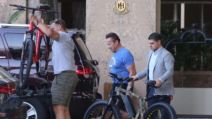 Ralf Möller und Arnold Schwarzenegger in Santa Monica im November 2019