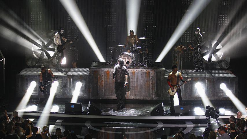 Rammstein und Marilyn Manson bei einem Konzert in Berlin 2012