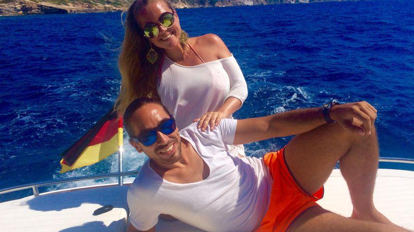 Rebecca Kratz und ihr Verlobter Julio auf einem Boot