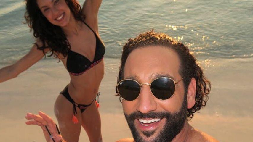 Rebecca Mir und Massimo Sinató im August 2021