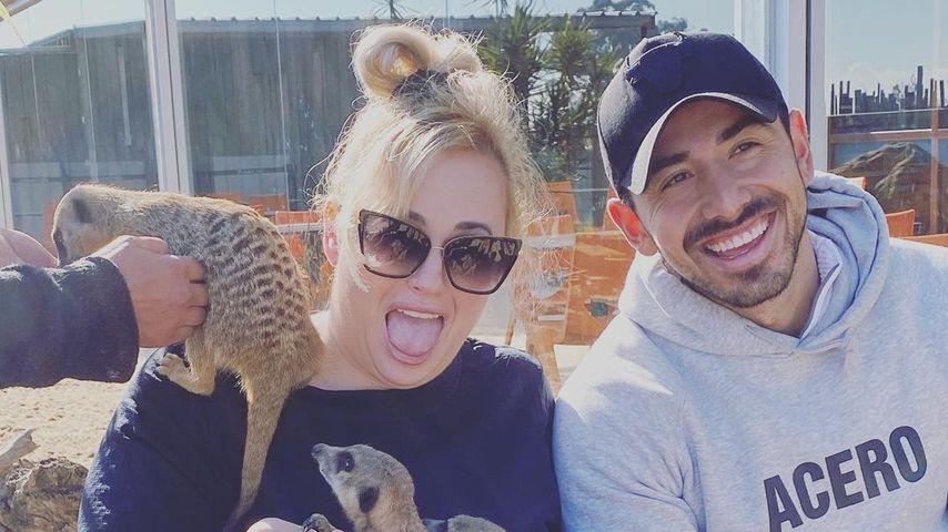 Rebel Wilson und ihr Personaltrainer im Zoo in Sydney