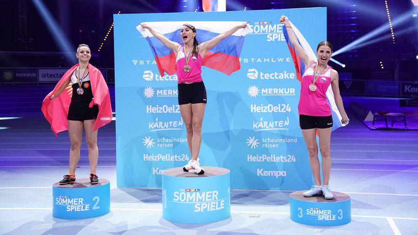 Renata Lusin, Christina Luft und Ekaterina Leonova bei den RTL-Sommerspielen