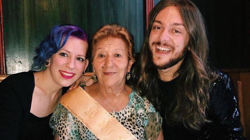 Riccardo Simonetti mit seiner Oma