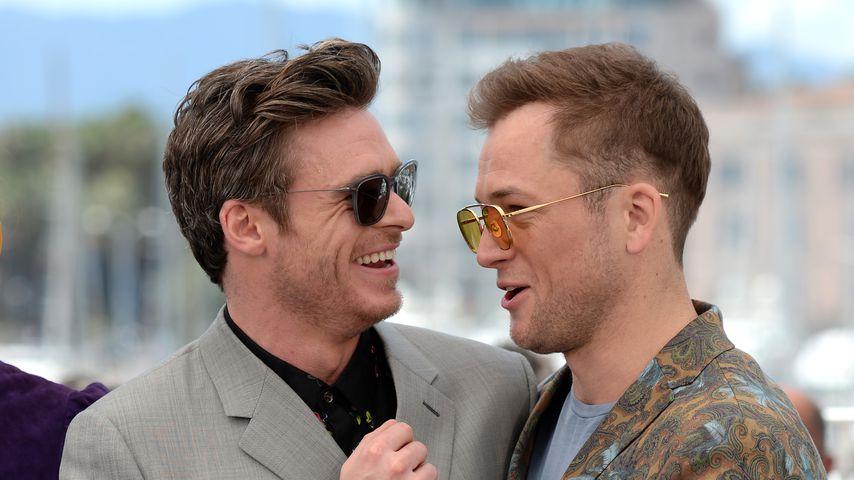 """Die """"Rocketman""""-Darsteller Richard Madden und Taron Egerton im Mai 2019 in Cannes"""
