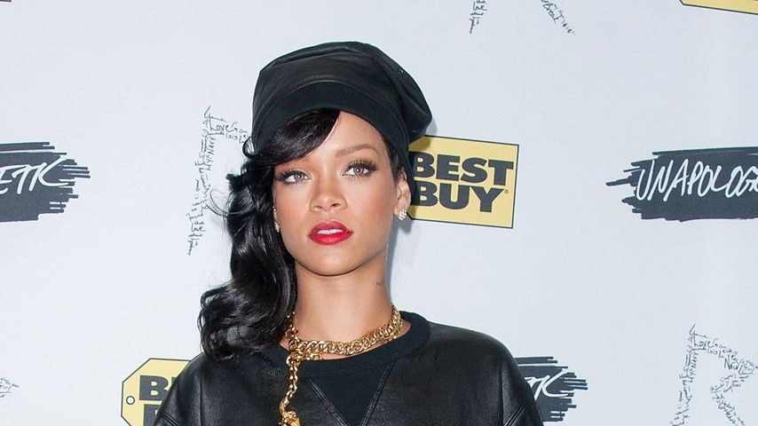 Wieder Maskulin: Rihanna im Leder-Labber-Look