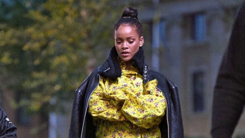Rihanna beim Verlassen des Grand Hotel in Stockholm