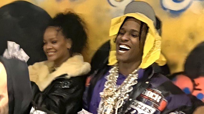 Rihanna und ASAP Rocky beim The Yams-Benefizkonzert in NYC im Januar 2020