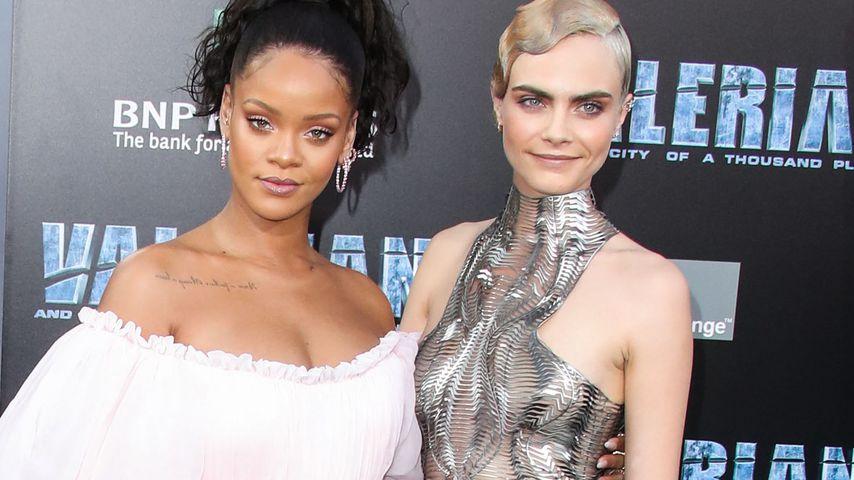 Rihanna und Cara Delevingne
