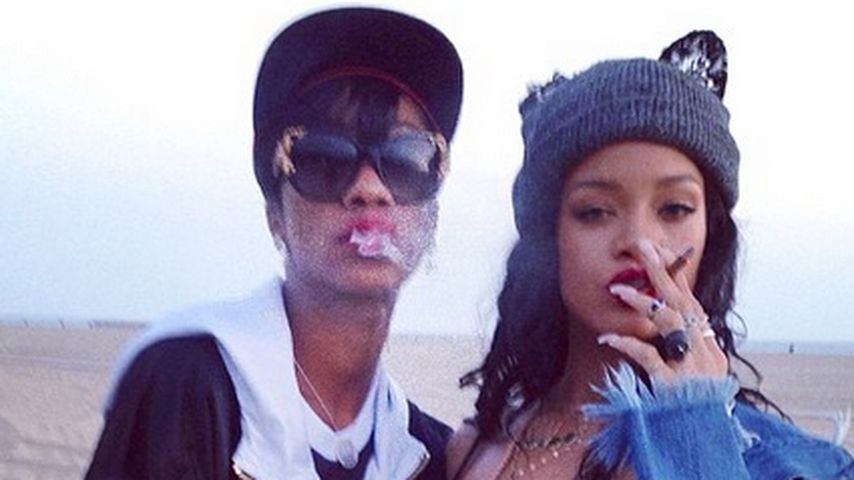 Rihanna und BFF Melissa: Ein Hoch dem Marihuana