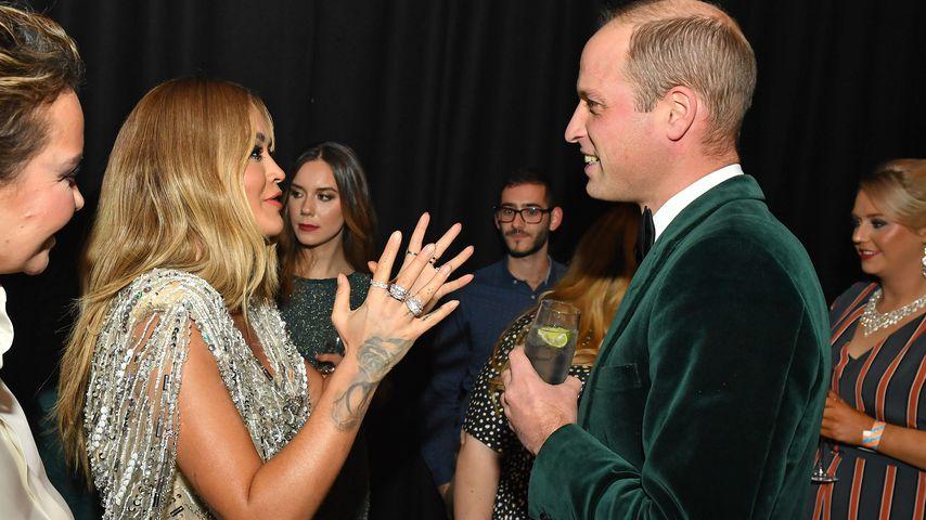 Rita Ora und Prinz William bei einer Charity-Gala, November 2019