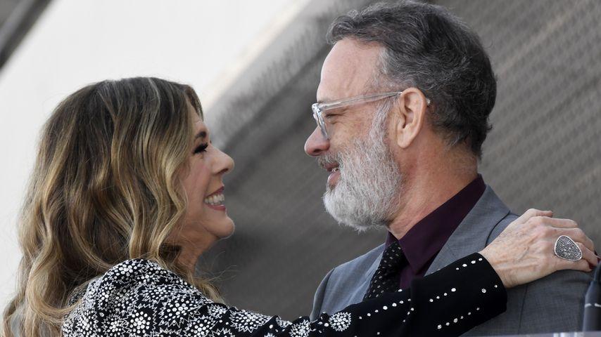 Rita Wilson und Tom Hanks sind endlich wieder zu Hause