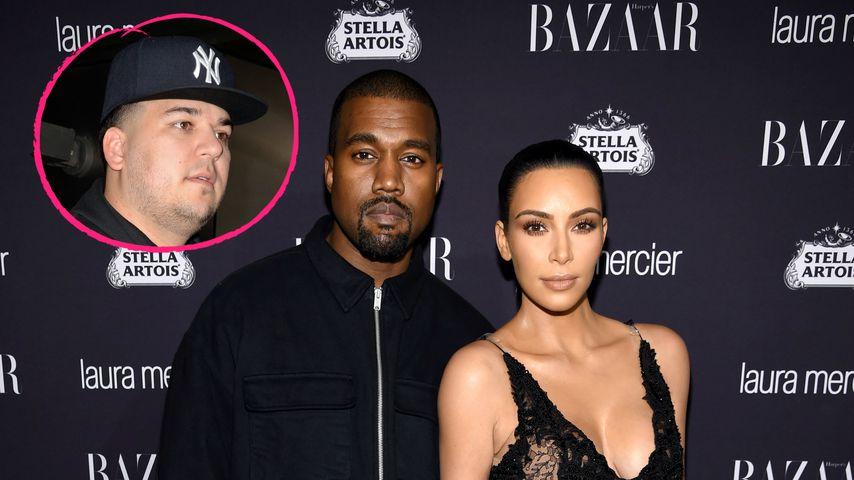 Übler Kardashian-Zoff: Rob glaubt, Kim macht Kanye fertig!