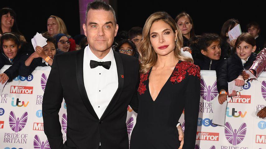 Robbie Williams mit seiner Frau Ayda bei den Pride of Britain Awards in London