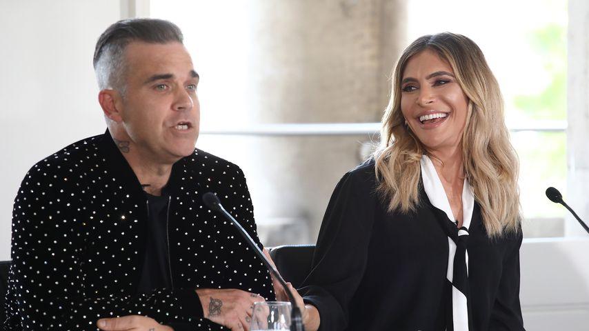 Robbie Williams und Ayda Field 2018 in London