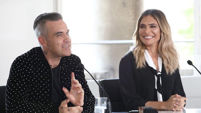 """Robbie Williams und Ayda Field bei deinem """"The X Factor""""-Launch 2018"""