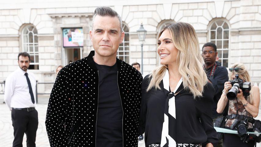 Robbie Williams und Ayda Field im Juli 2018