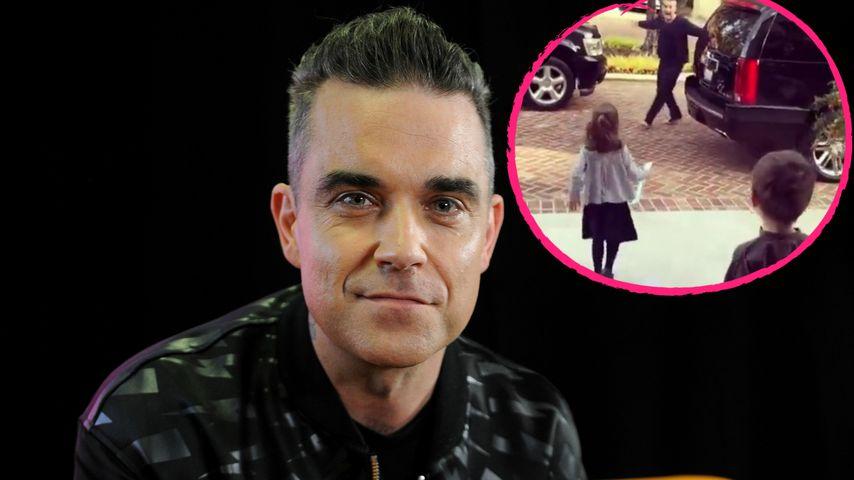 Nach einem Monat: Süßes Wiedersehen von Robbie & seinen Kids