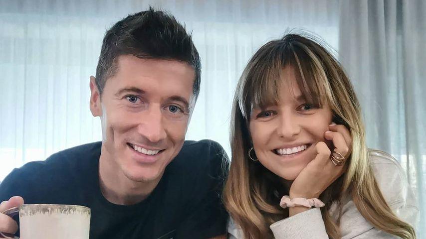 Robert Lewandowski und seine Frau Anna Lewandowska