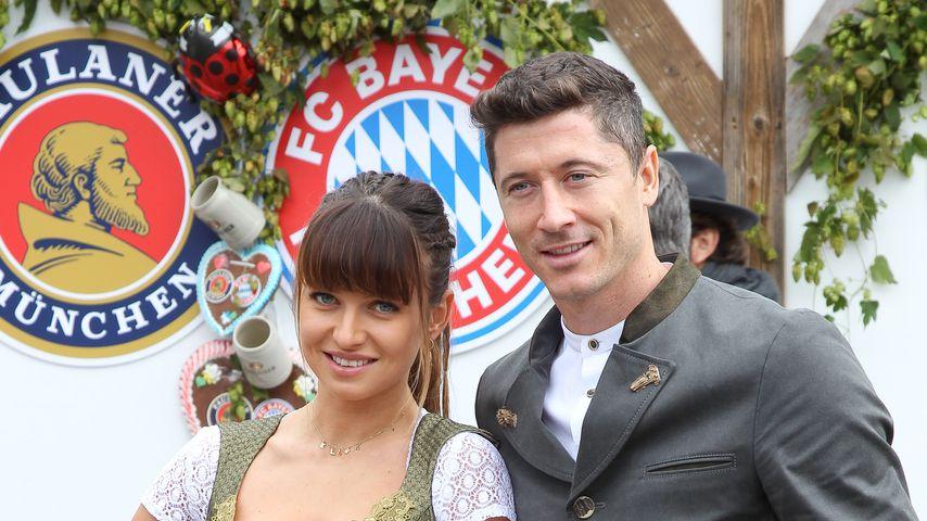 Robert Lewandowski und seine Frau Anna auf der Wiesn 2019