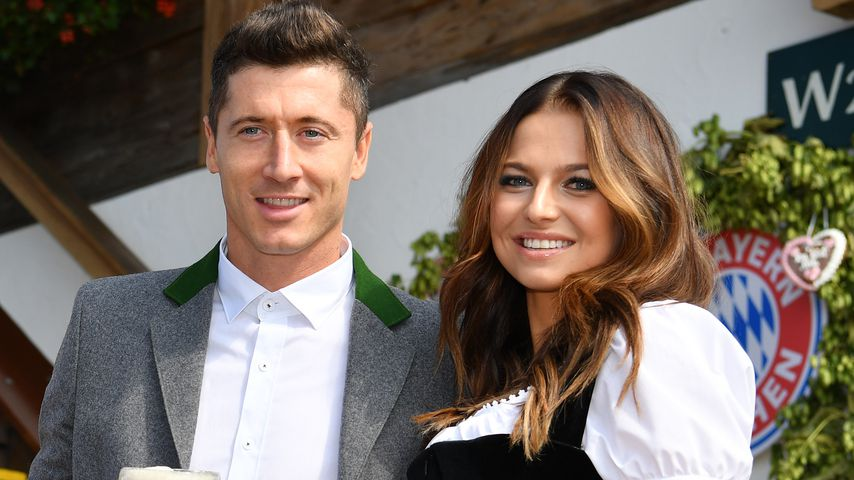 Robert und Anna Lewandowski im September 2017