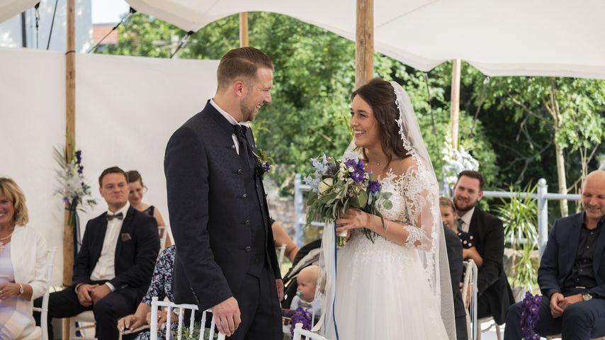 Robert und Emily an ihrem Hochzeitstag