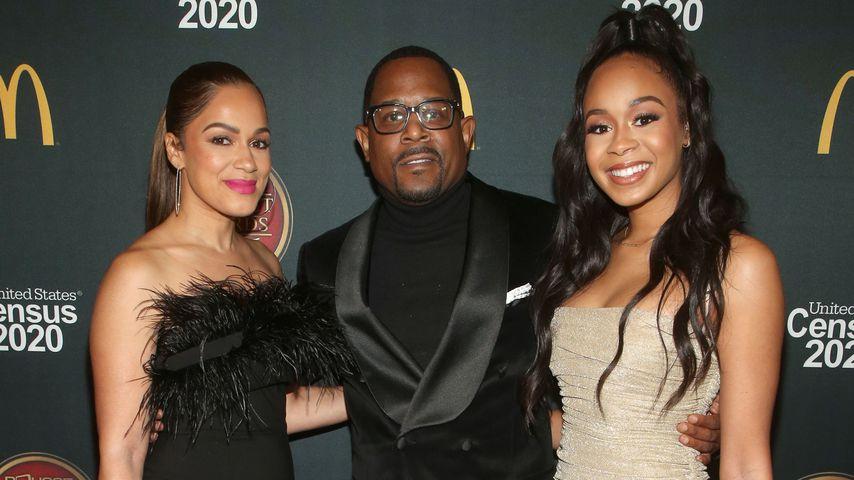 Roberta Moradfar, Martin Lawrence und seine Tochter Jasmin bei den ounce Trumpet Awards, 2019