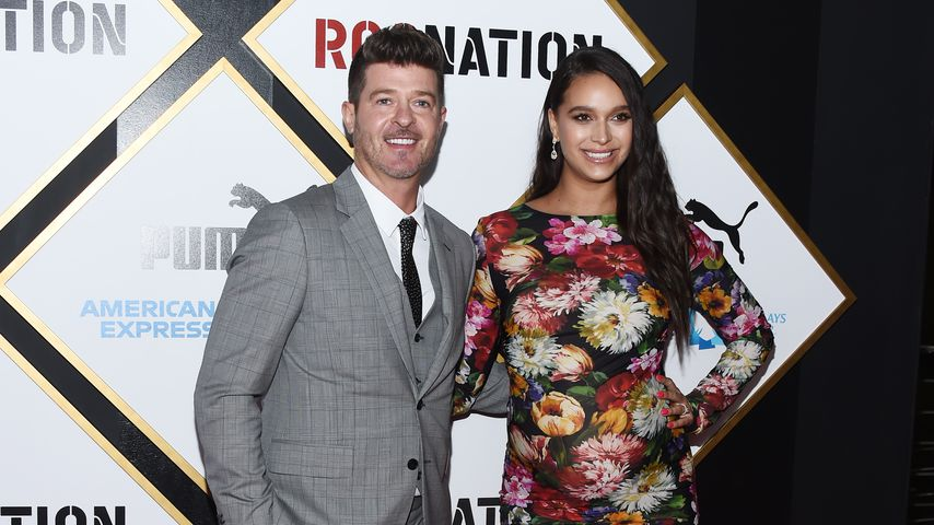 Robin Thicke und April Love Geary, Februar 2019