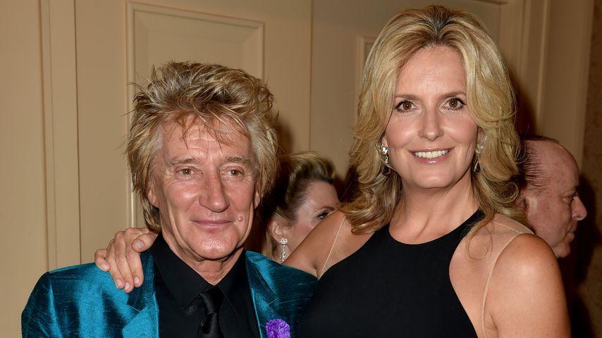 Rod Stewart mit seiner Frau Penny Lancaster in Beverly Hills