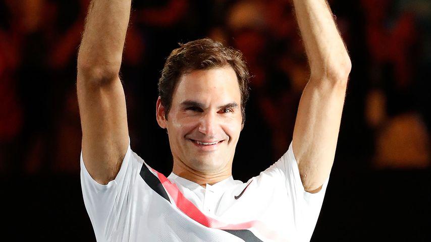 Roger Federer nach dem Sieg der Australian Open