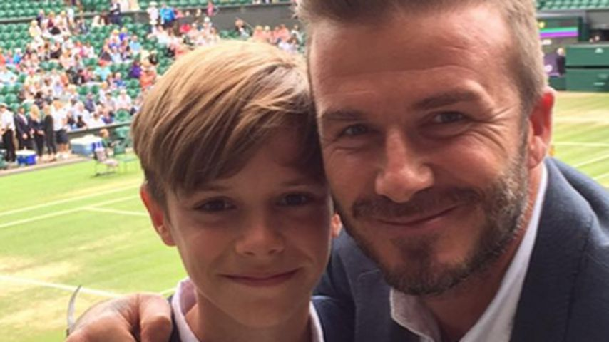 Wie Papa David: Romeo Beckham (12) ist ein Sport-Junkie
