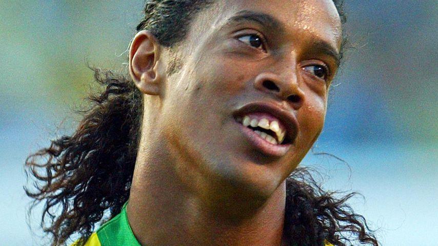 Ronaldinho im Fußballstadion in Sao Paolo im September 2004