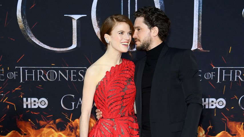 Rose Leslie und Kit Harington in New York, April 2019