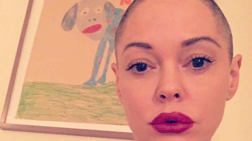 "Radikal abrasiert: ""Charmed""-Rose McGowan zeigt kahlen Kopf!"