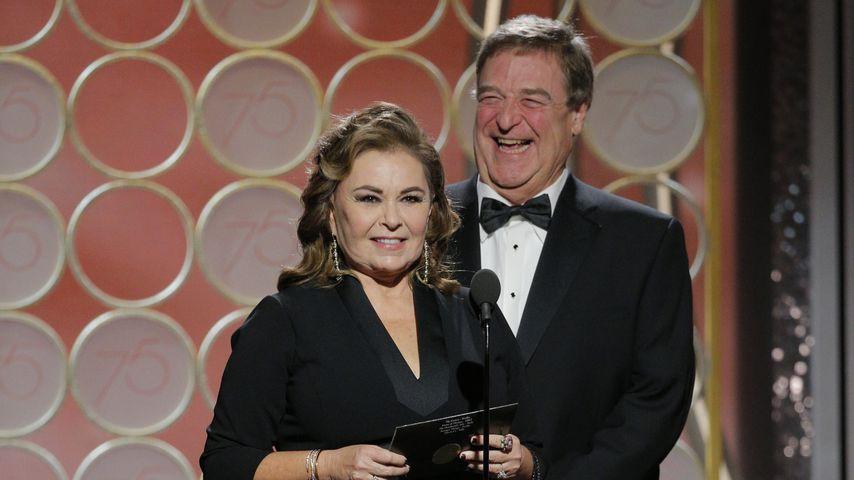 Roseanne Barr und John Goodman bei den Golden Globes