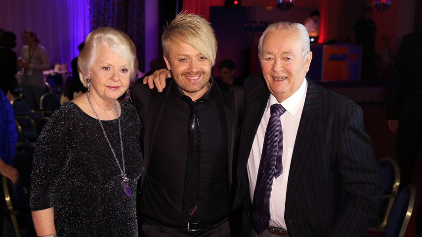 Ross Antony mit seinen Eltern Vivien Catterall und Denis Catterall