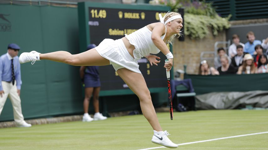 Sabine Lisicki in Wimbledon im Juni 2016