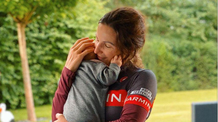 Sabrina Mockenhaupt und ihre Tochter Ruby