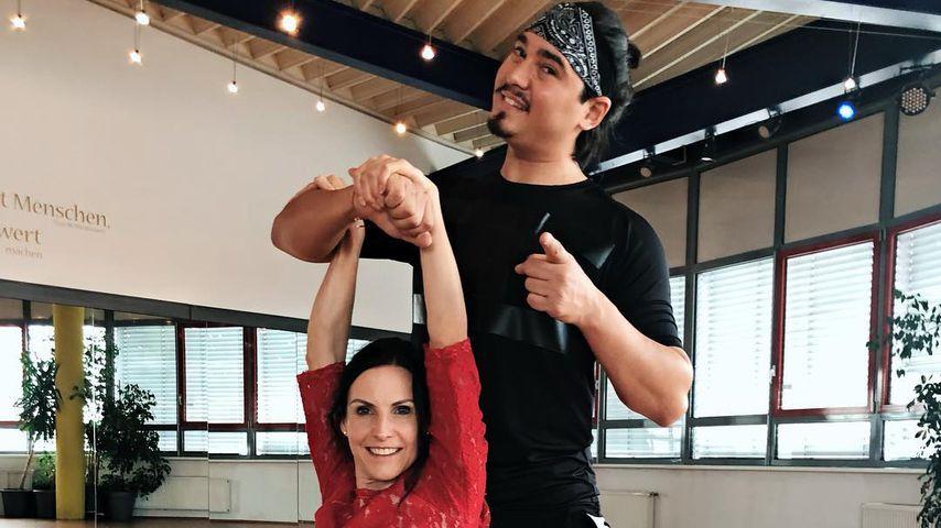"""Sabrina Mockenhaupt und Erich Klann beim """"Let's Dance""""-Training"""