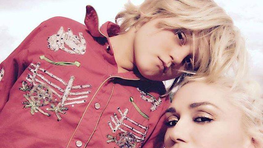 Sängerin Gwen Stefani und ihr Sohn Zuma