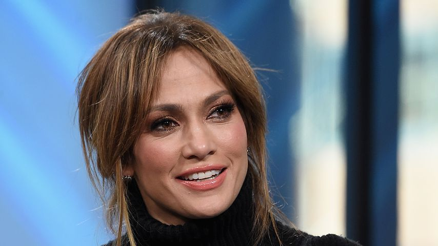 Sängerin Jennifer Lopez bei einer Pressekonferenz, 2017