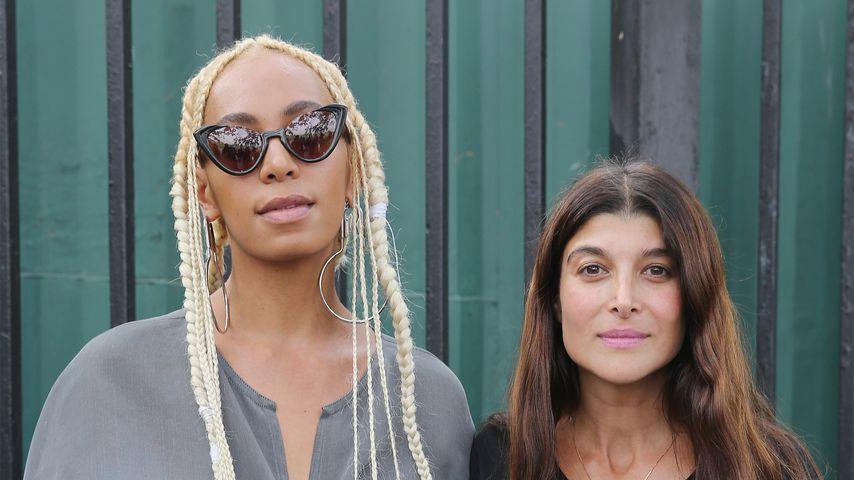 Sängerin Solange Knowes und Designerin Maryam Nassir Zadeh bei der New Yorker Fashion Week