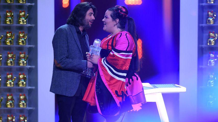 Salvador Sobral und Netta Barzilai beim Eurovision Song Contest in Lissabon